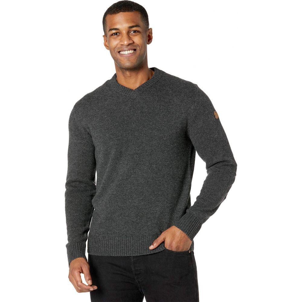 フェールラーベン メンズ トップス ニット セーター Dark Grey Ovik V-Neck Sweater 最安値挑戦 Fjallraven 信頼 Vネック サイズ交換無料