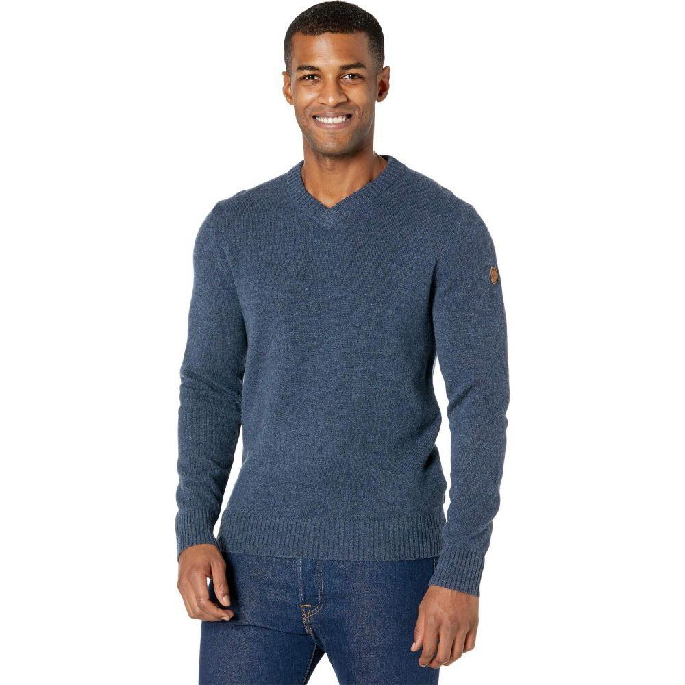 フェールラーベン 公式ストア メンズ トップス ニット セーター Navy Ovik Fjallraven Vネック V-Neck 正規品 Sweater サイズ交換無料