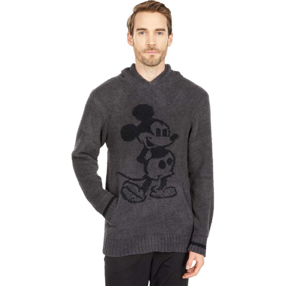 かわいい! ベアフットドリームス Barefoot Dreams メンズ パーカー トップス【CozyChic Classic Mickey Mouse Hoodie】Carbon/Black, 近江町 94802fe1