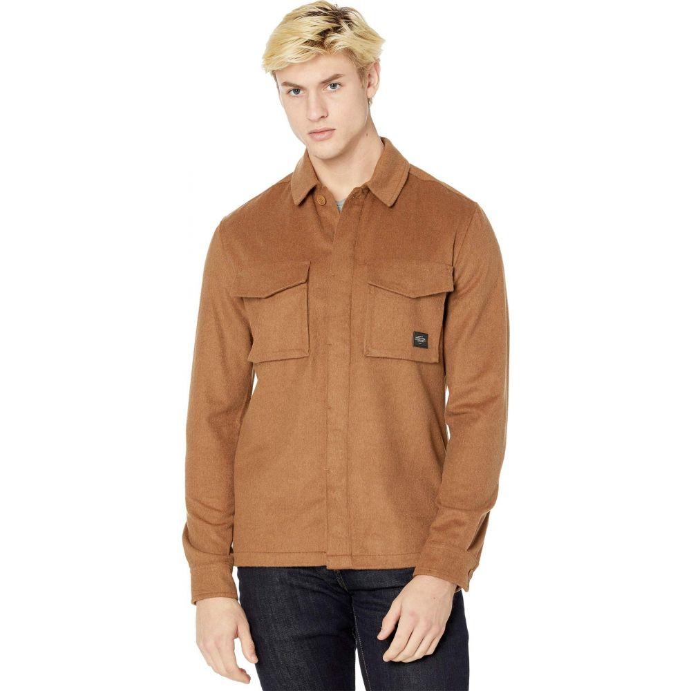 スコッチソーダ 最安値 メンズ アウター Camel サイズ交換無料 Scotch Soda Overshirt 全店販売中 - Seasonal オーバーシャツ Brushed Wool-Blend Fit