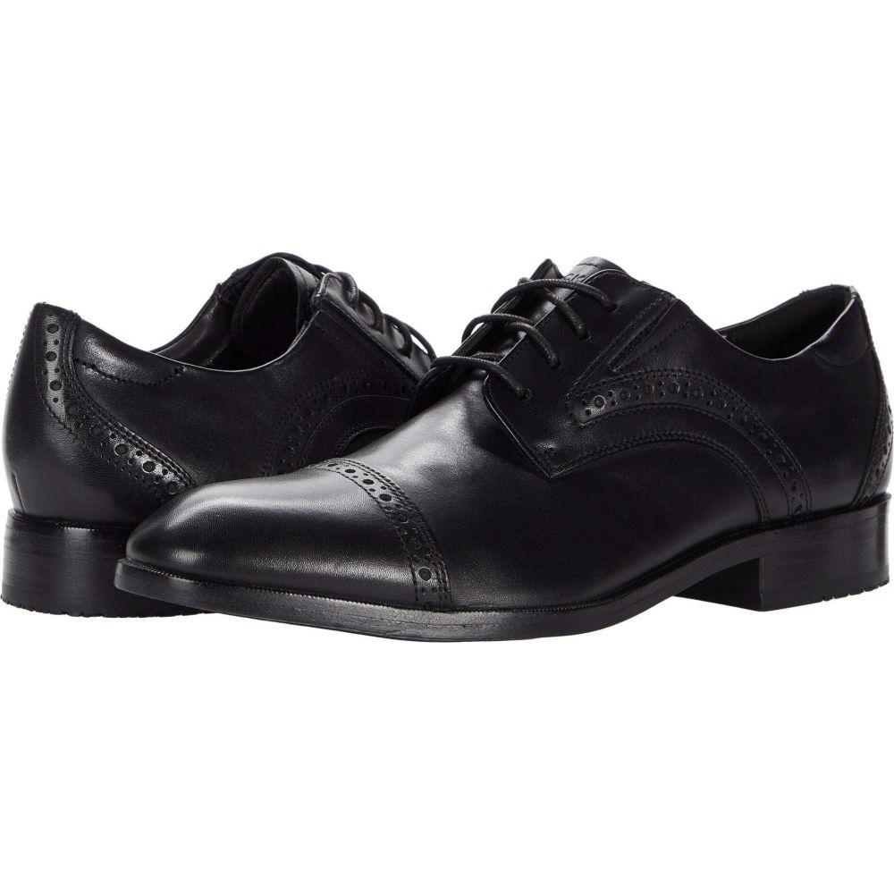 ロックポート メンズ シューズ 靴 革靴 ビジネスシューズ Black Total 5☆大好評 Office サイズ交換無料 Motion Cap 激安卸販売新品 Rockport Toe