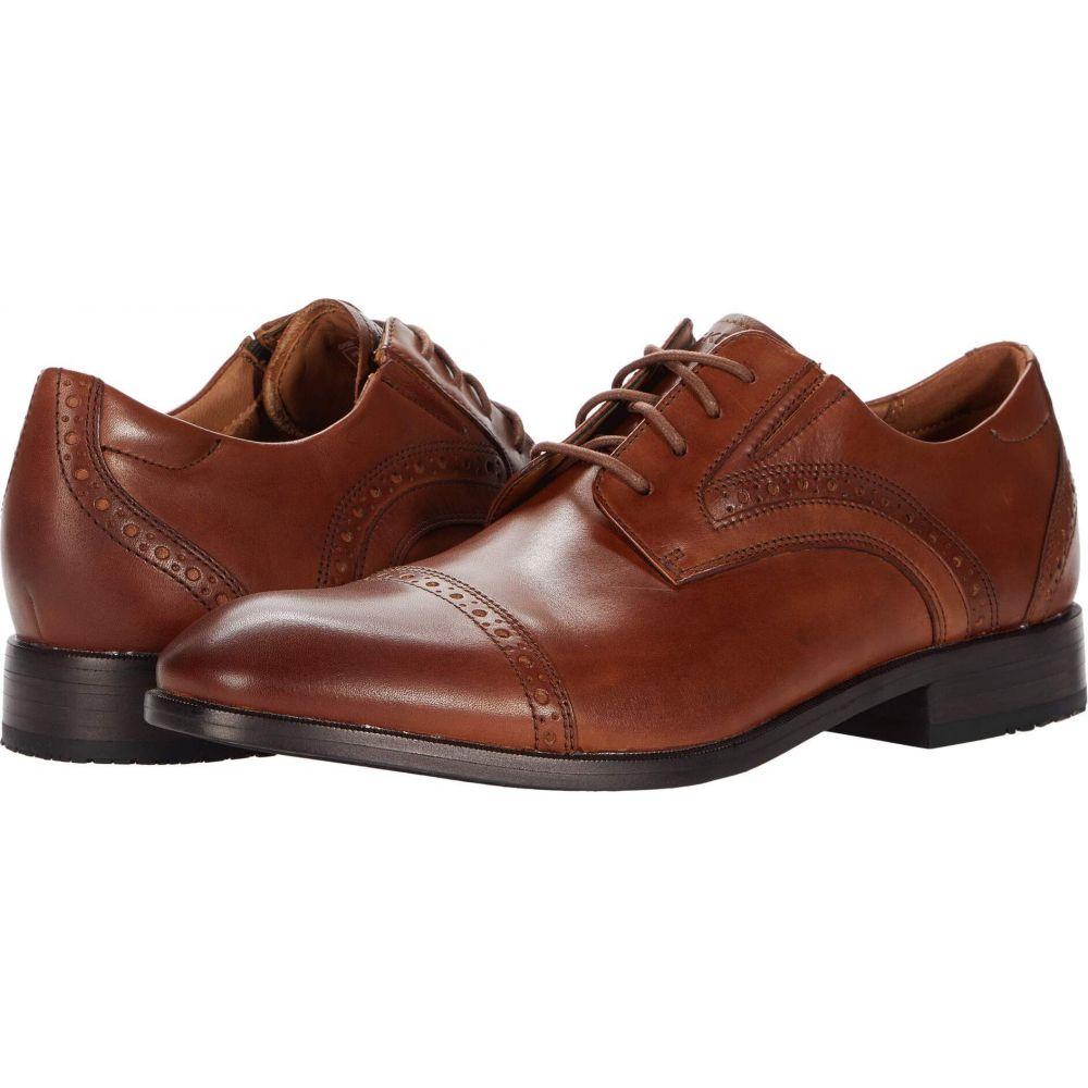 ロックポート メンズ シューズ 靴 革靴 ビジネスシューズ British Tan サイズ交換無料 Motion 結婚祝い Rockport Cap お得なキャンペーンを実施中 Toe Total Office