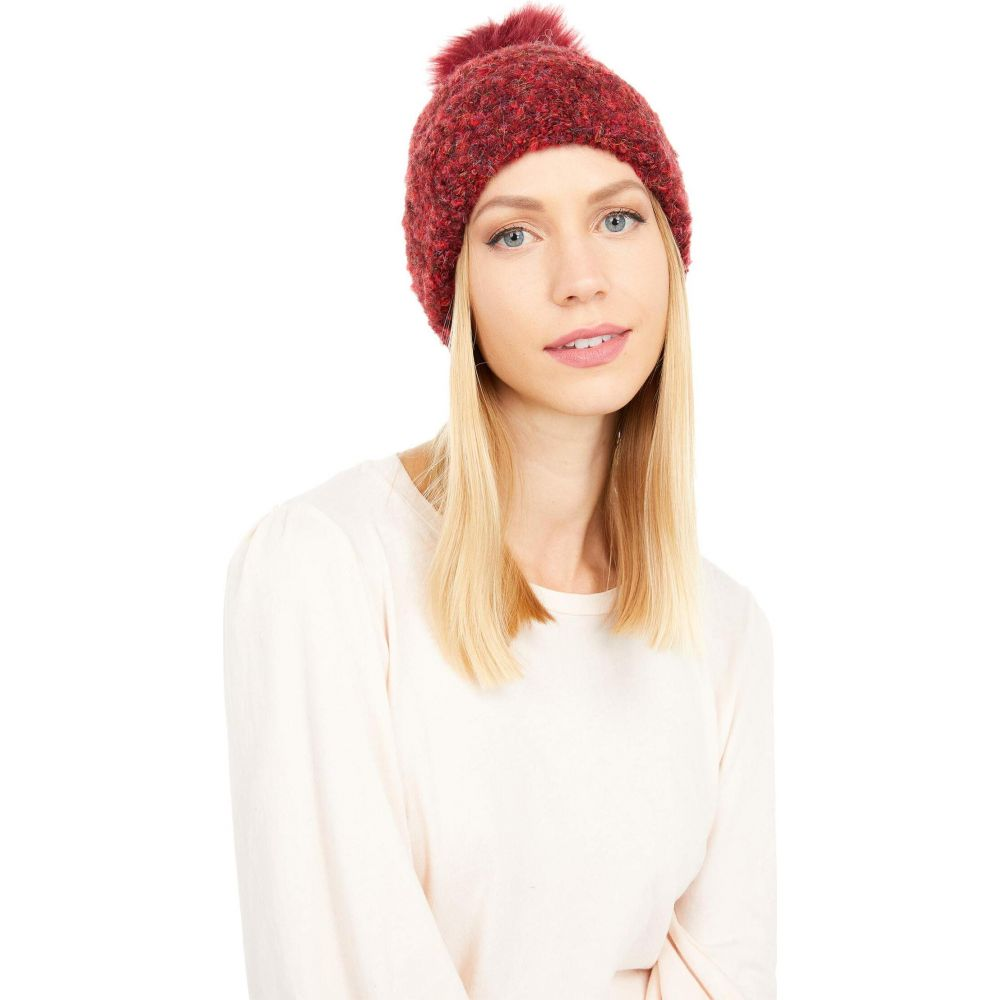 アグ 格安激安 登場大人気アイテム レディース 帽子 ニット Kiss サイズ交換無料 UGG Boucle Pom Faux with Cuff Fur Knit Hat