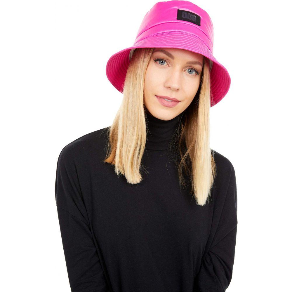 アグ レディース 帽子 ハット Rock Rose サイズ交換無料 Bucket 特価キャンペーン All UGG バケットハット Hat Weather Fabric 希少