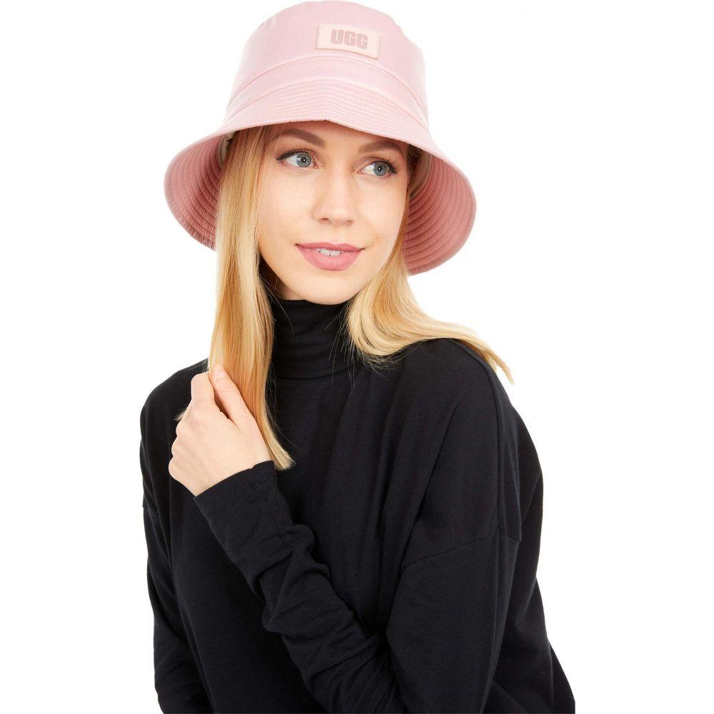アグ レディース 帽子 ハット Pink お歳暮 Cloud サイズ交換無料 UGG Weather バケットハット All Hat Fabric Bucket 新品 送料無料