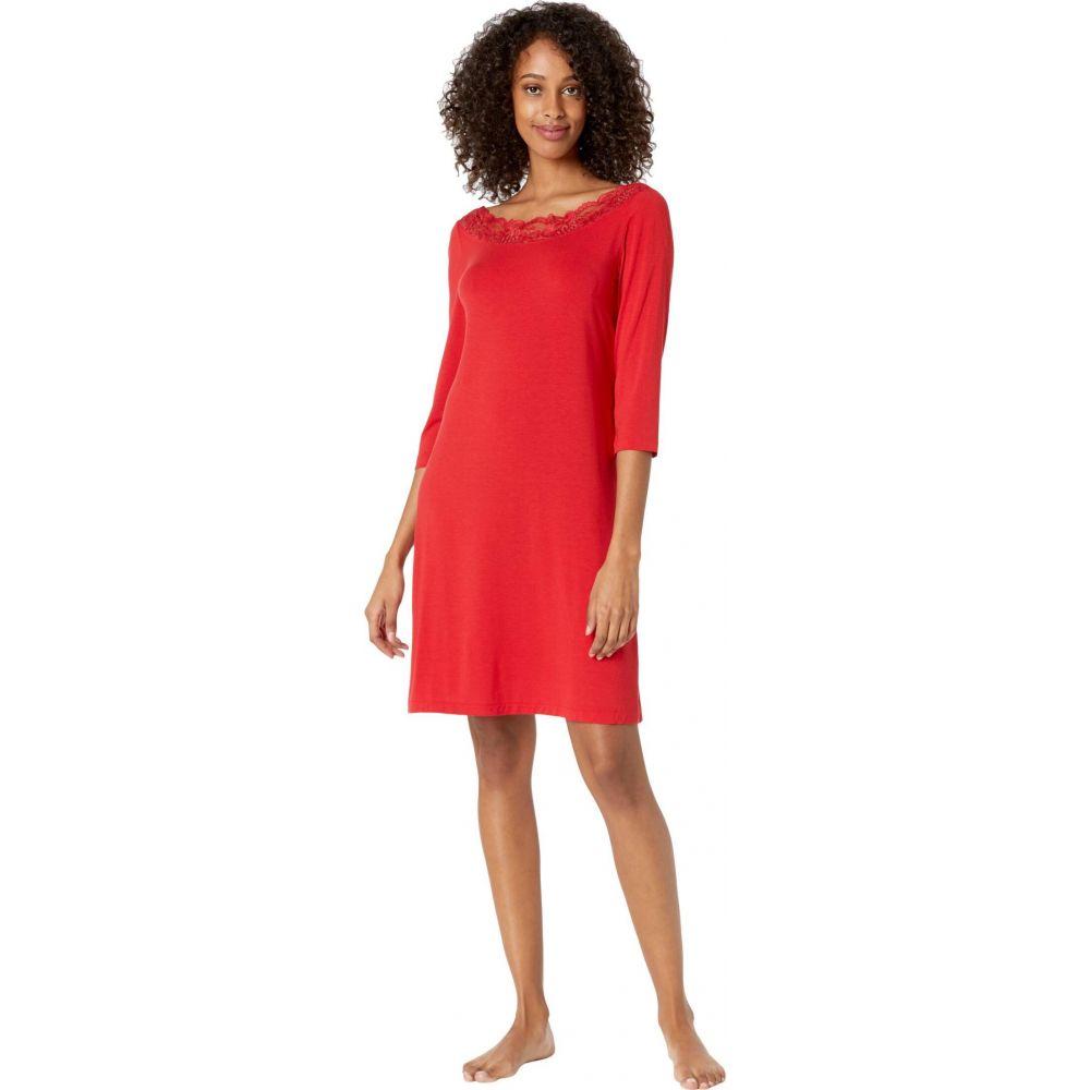 ラ ペルラ La Perla レディース パジャマ·トップのみ インナー·下着【Layla Short Night Gown 3/4 Sleeves】Red Tango