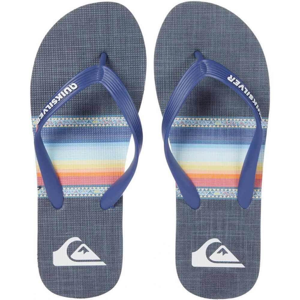 大決算セール クイックシルバー メンズ シューズ 靴 日本製 ビーチサンダル Blue Print サイズ交換無料 Quiksilver Black Molokai