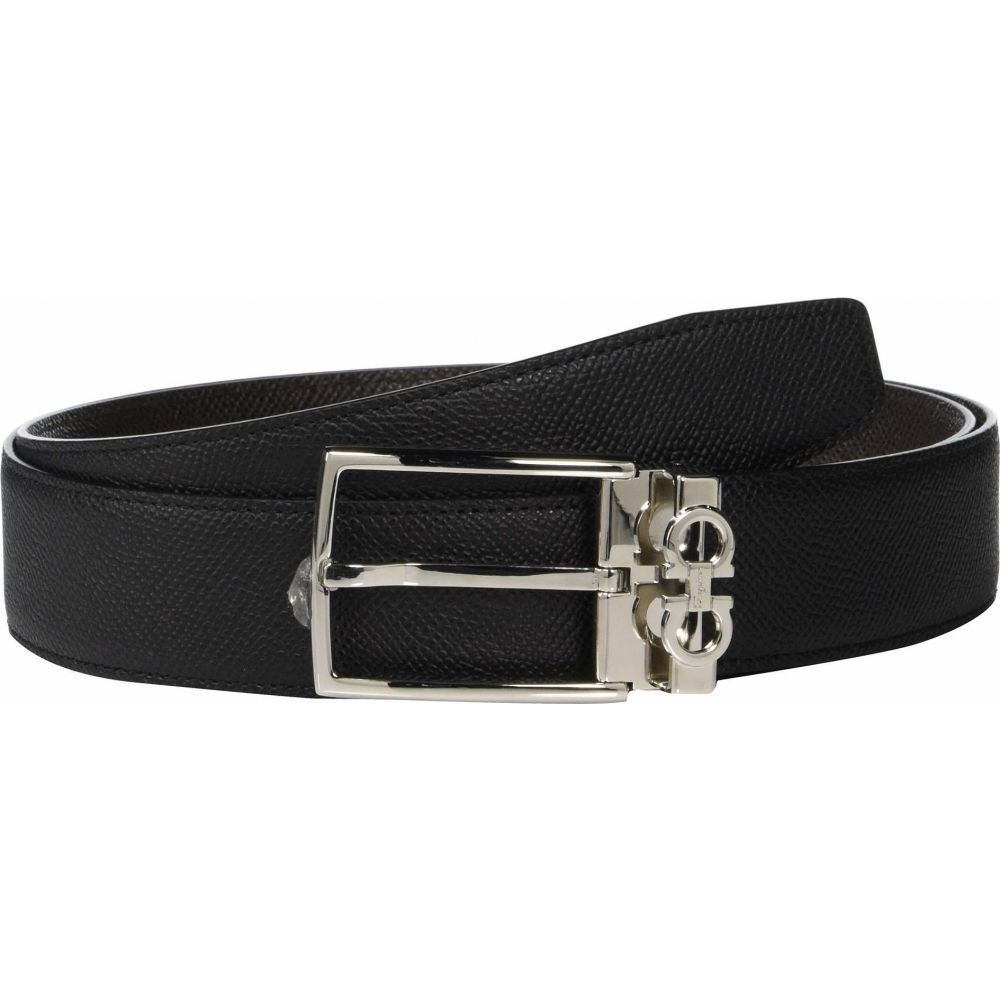 <title>サルヴァトーレ 新作 人気 フェラガモ メンズ ファッション小物 ベルト Black T. Moro サイズ交換無料 Salvatore Ferragamo Adjustable Reversible Belt - 67A037</title>