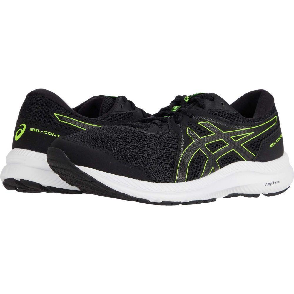 アシックス メンズ ランニング ウォーキング シューズ 靴 Black サイズ交換無料 GEL-Contend Hazard ASICS 商舗 7 日本産 Green