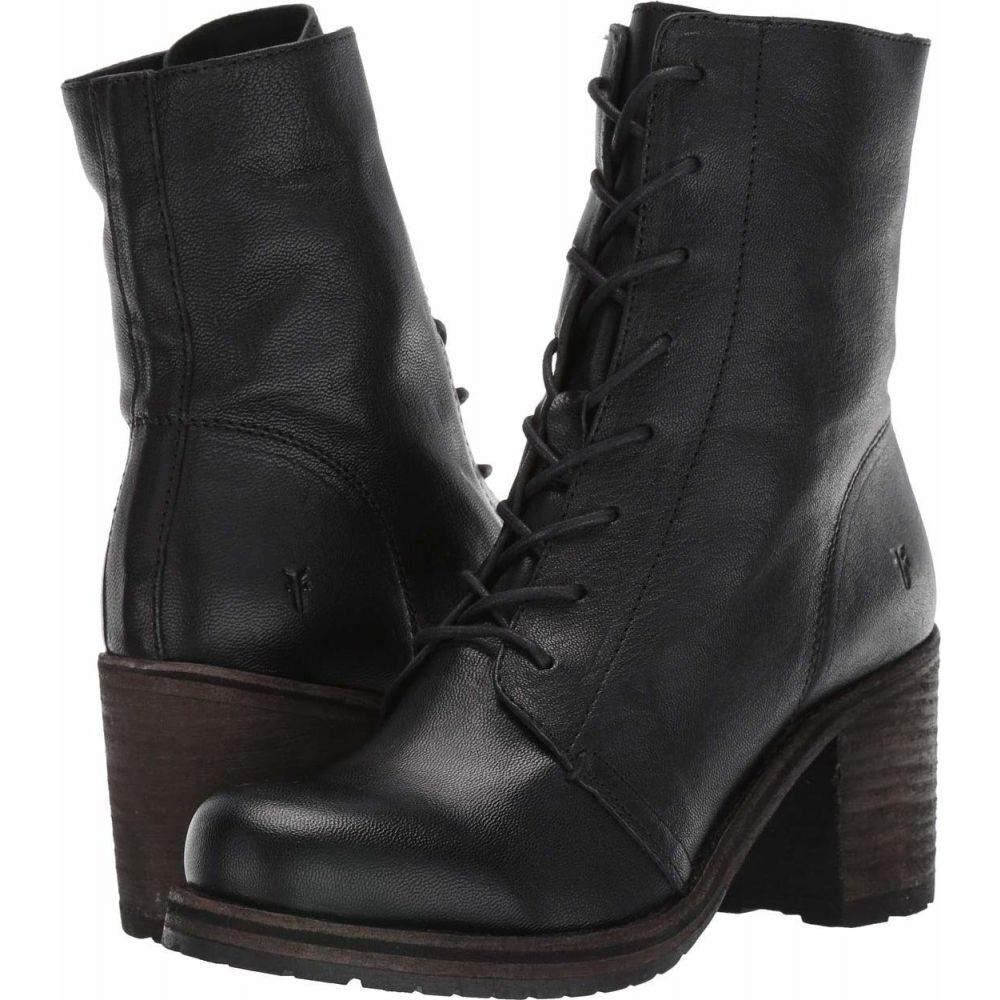 <title>ファッション通販 フライ レディース シューズ 靴 ブーツ Black Vegetable Tan Leather サイズ交換無料 Frye Karen Combat</title>