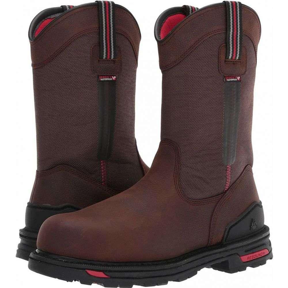 ロッキー メンズ シューズ 靴 店 ブーツ Dark Brown サイズ交換無料 Comp 値引き Rocky Toe Boot 11' Pull-On RXT Non-Metallic