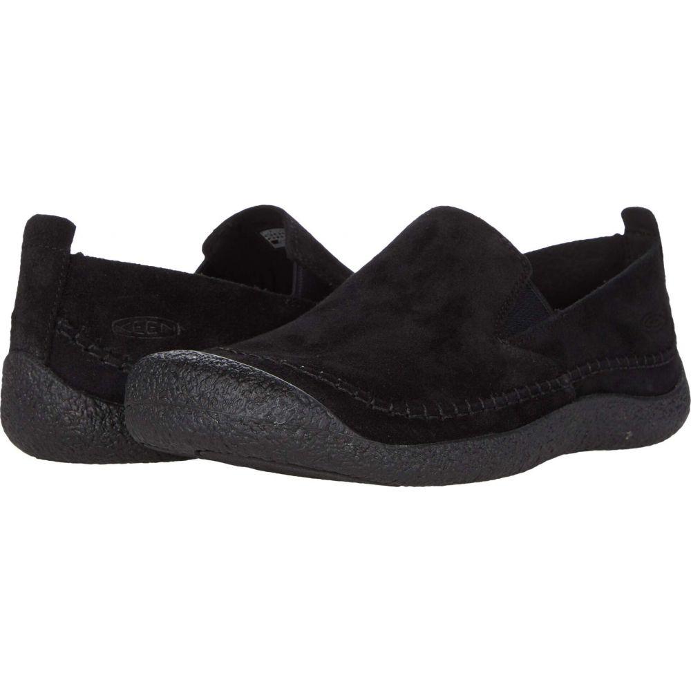 キーン メンズ シューズ 公式ストア 靴 スリッポン フラット KEEN Black Suede サイズ交換無料 Slip-On 贈答品 Howser