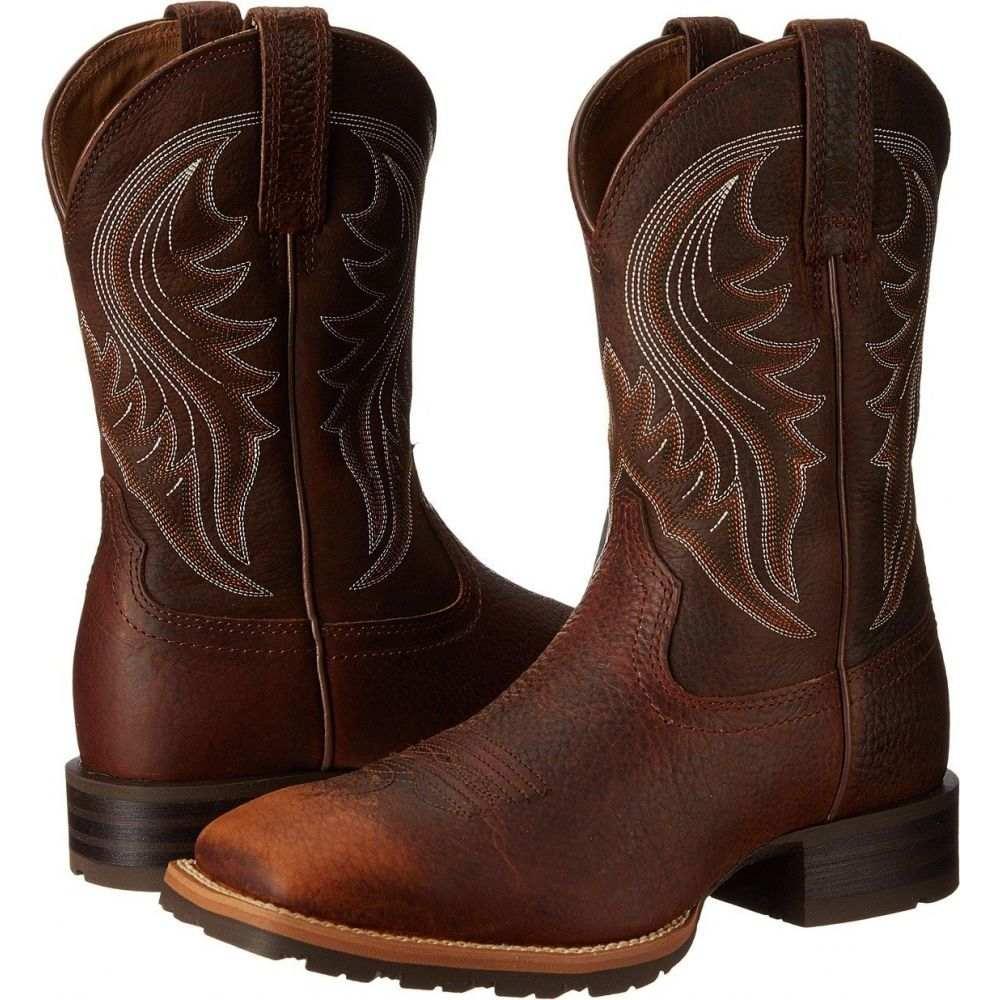 年中無休 アリアト メンズ シューズ 購買 靴 ブーツ Brown Rancher サイズ交換無料 Oiled Rowdy Hybrid Ariat