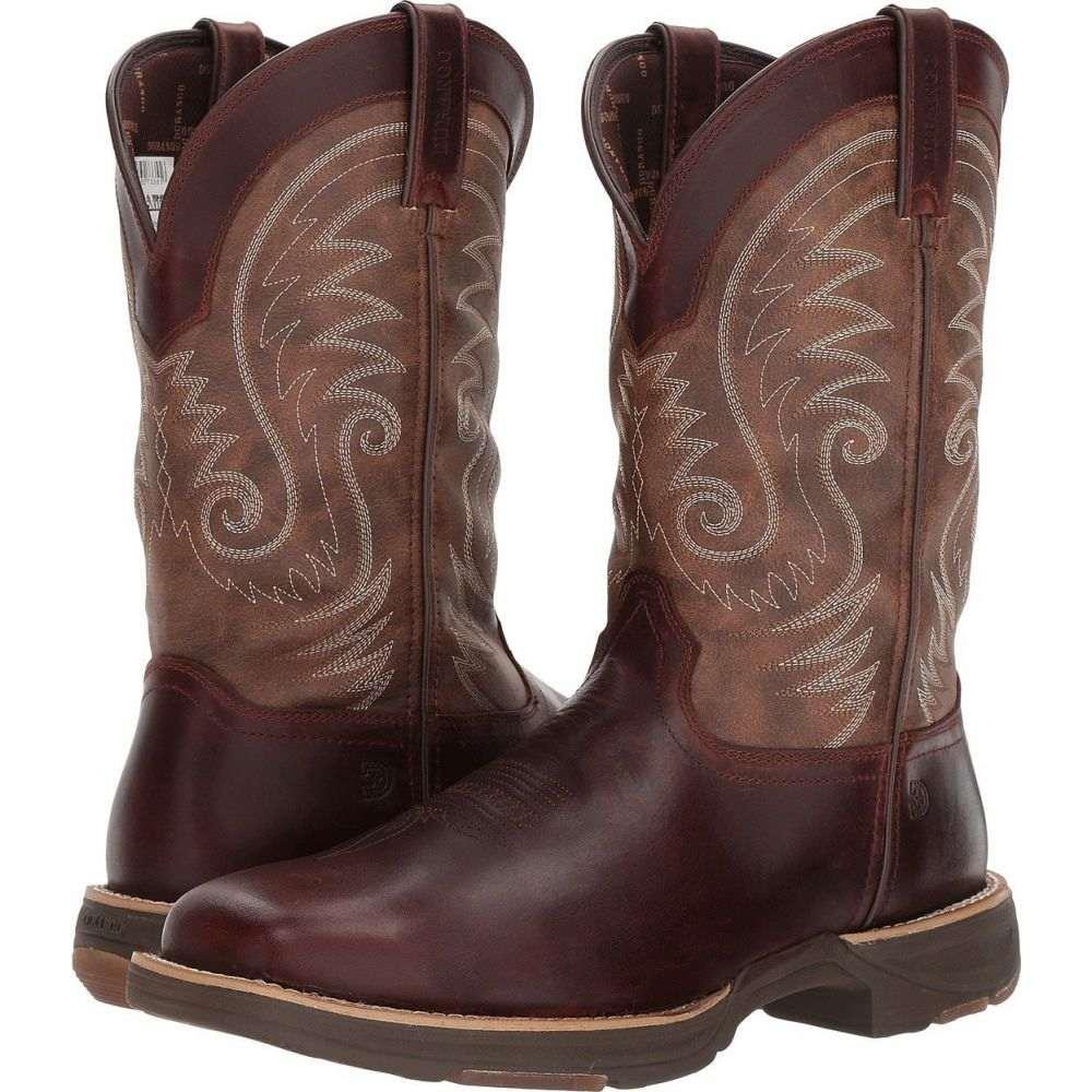 デュランゴ メンズ シューズ 靴 ブーツ Brown Leather Vintage サイズ交換無料 Durango WP お中元 12' Toe スクエアトゥ Ultralite Western Square テレビで話題