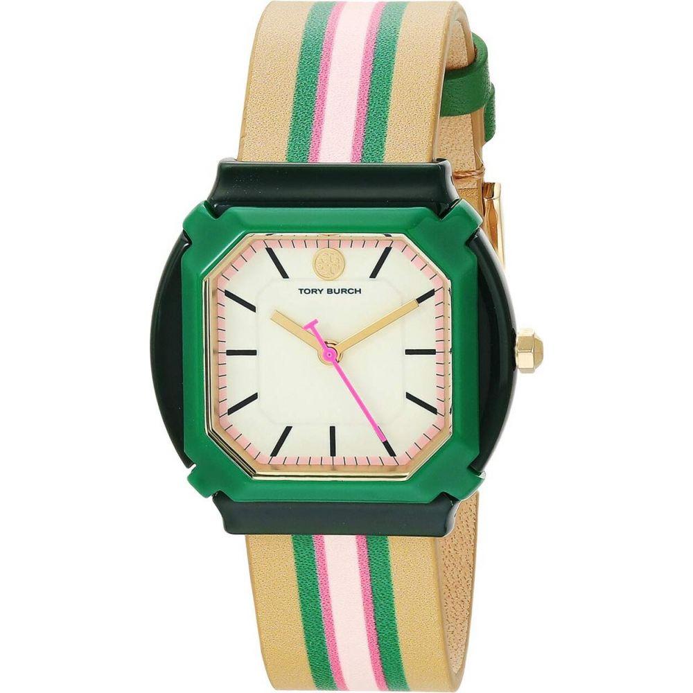 トリー バーチ Tory Burch レディース 腕時計 【Blake Leather Watch】Tan/Pink