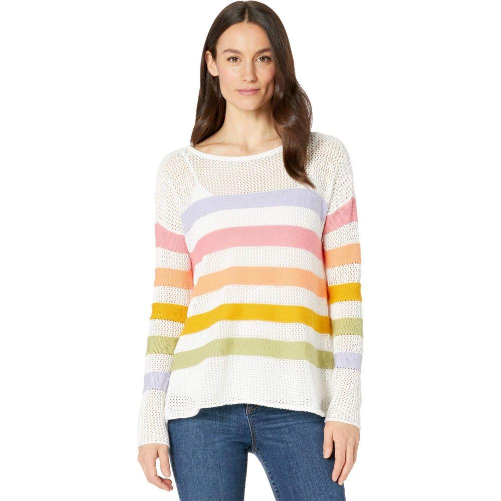 エリオットローレン Elliott Lauren レディース ニット・セーター トップス【Embraceable Hue Mesh Stripe Crew Neck Sweater】Multi