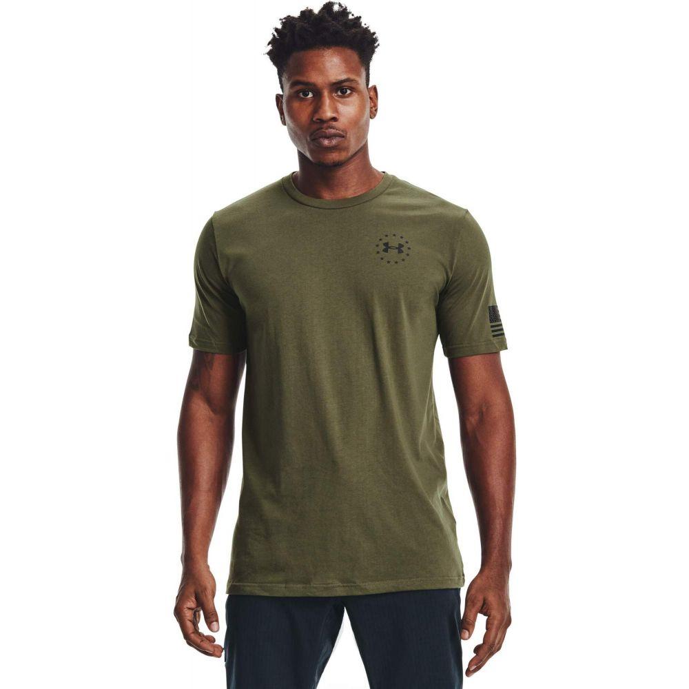 アンダーアーマー メンズ トップス Tシャツ Marine OD おトク Green Under お値打ち価格で Flag サイズ交換無料 Black Armour Freedom Tee