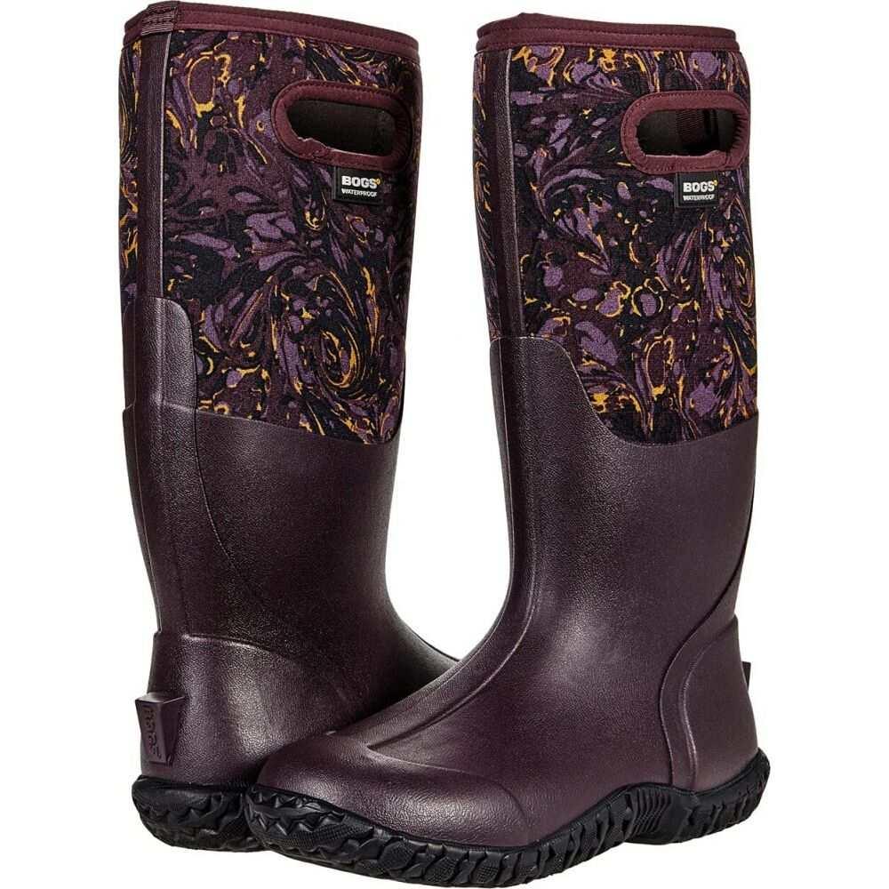 ボグス レディース シューズ・靴 レインシューズ・長靴 Plum Multi 【サイズ交換無料】 ボグス Bogs レディース レインシューズ・長靴 シューズ・靴【Mesa Winter Marble】Plum Multi