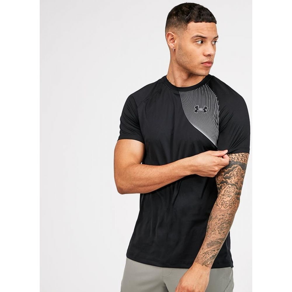 アンダーアーマー Under Armour メンズ Tシャツ トップス【Qualifier Iso-Chill Run Short Sleeve T-Shirt】Black