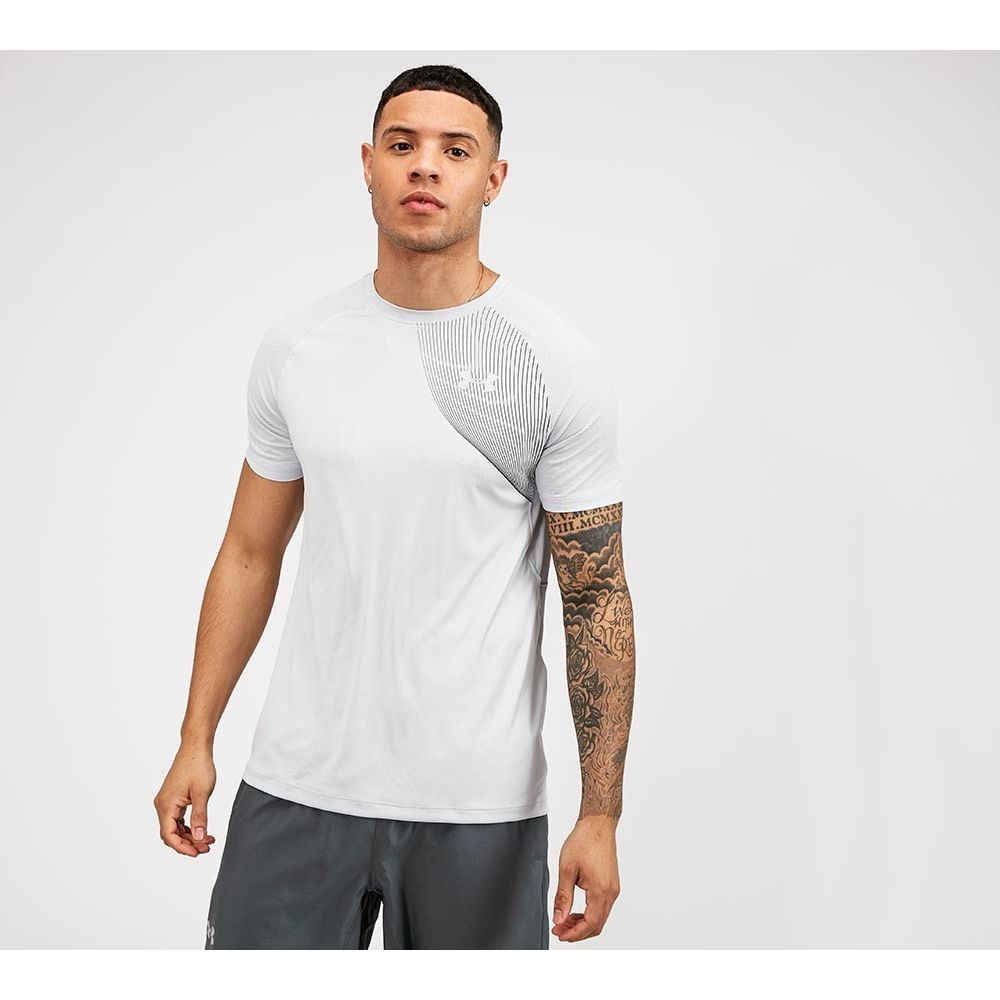アンダーアーマー Under Armour メンズ Tシャツ トップス【Qualifier Iso-Chill Run Short Sleeve T-Shirt】Halo Grey