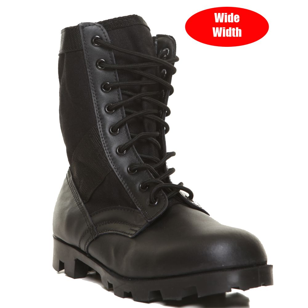 ロスコ Rothco メンズ ブーツ シューズ・靴【black g.i. type speedlace jungle boot (wide width)】