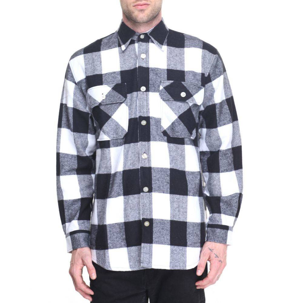 ロスコ Rothco メンズ シャツ トップス【extra heavyweight buffalo plaid flannel shirts】White