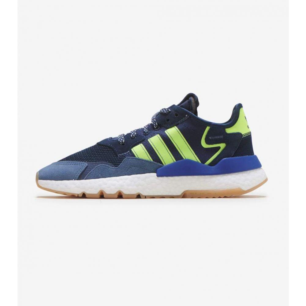 アディダス Adidas メンズ ランニング・ウォーキング ジョガーパンツ シューズ・靴【Nite Jogger】College Navy/Yellow/Gum
