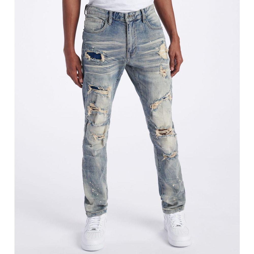 デシベル Decibel メンズ ジーンズ・デニム ボトムス・パンツ【Slim Super Stretch Jeans】Chester Blue
