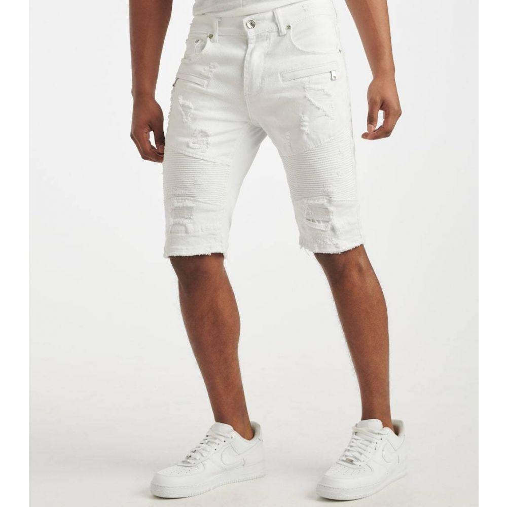デシベル Decibel メンズ ショートパンツ ボトムス・パンツ【Moto Shorts】White