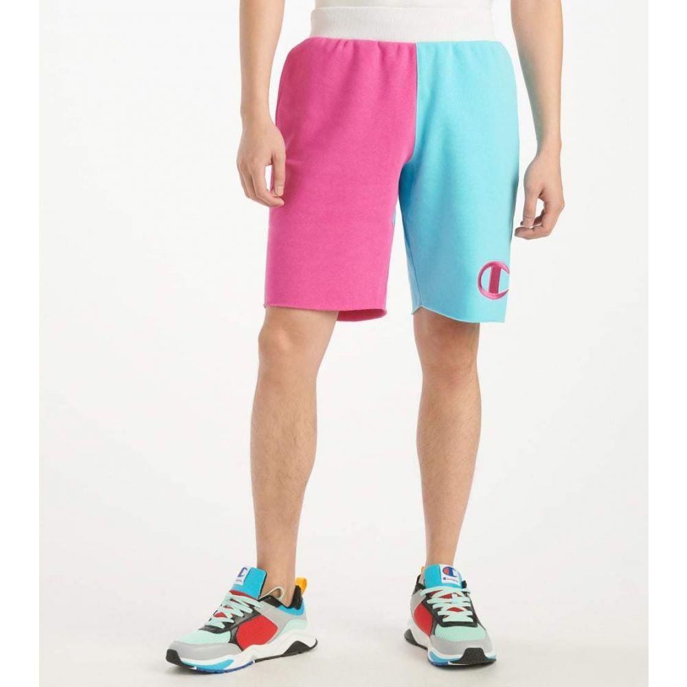 チャンピオン Champion メンズ ショートパンツ ボトムス・パンツ【Colorblock Shorts】Blue Horizon/Peony Pink