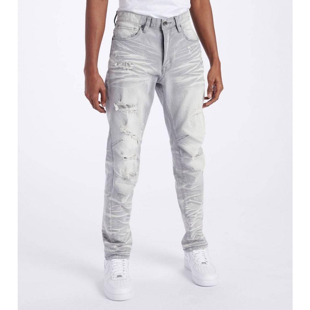 デシベル Decibel メンズ ジーンズ・デニム ボトムス・パンツ【Slim Super Stretch Jeans】Light Grey