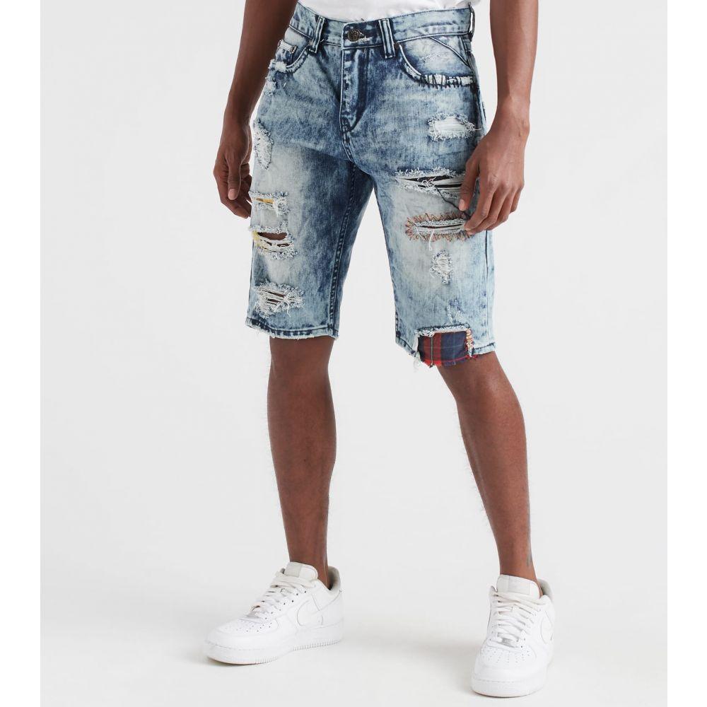 ヘリテイジ Heritage メンズ ショートパンツ ボトムス・パンツ【Shorts With Plaid Backing】Indigo