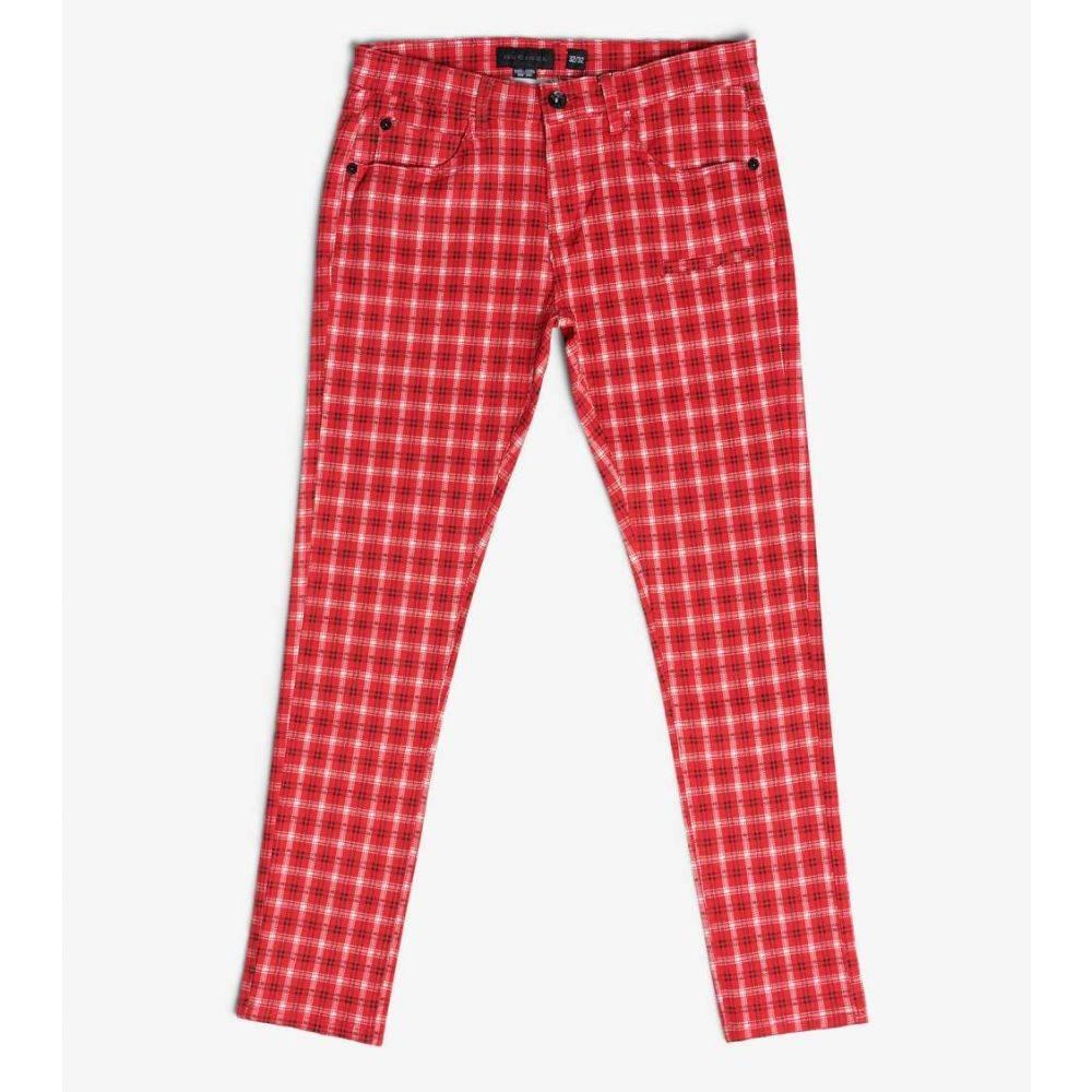 デシベル Decibel メンズ ボトムス・パンツ 【Plaid Pants】Red/White
