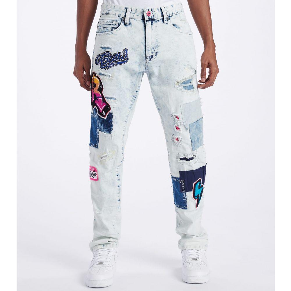 デシベル Decibel メンズ ジーンズ・デニム ボトムス・パンツ【Rips N Patches Jeans - L32】Iceland Blue