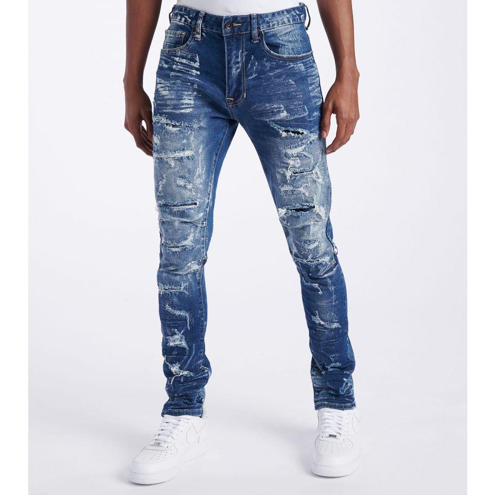 デシベル Decibel メンズ ジーンズ・デニム ボトムス・パンツ【Slim Tapered Jeans - L34】Brush Blue