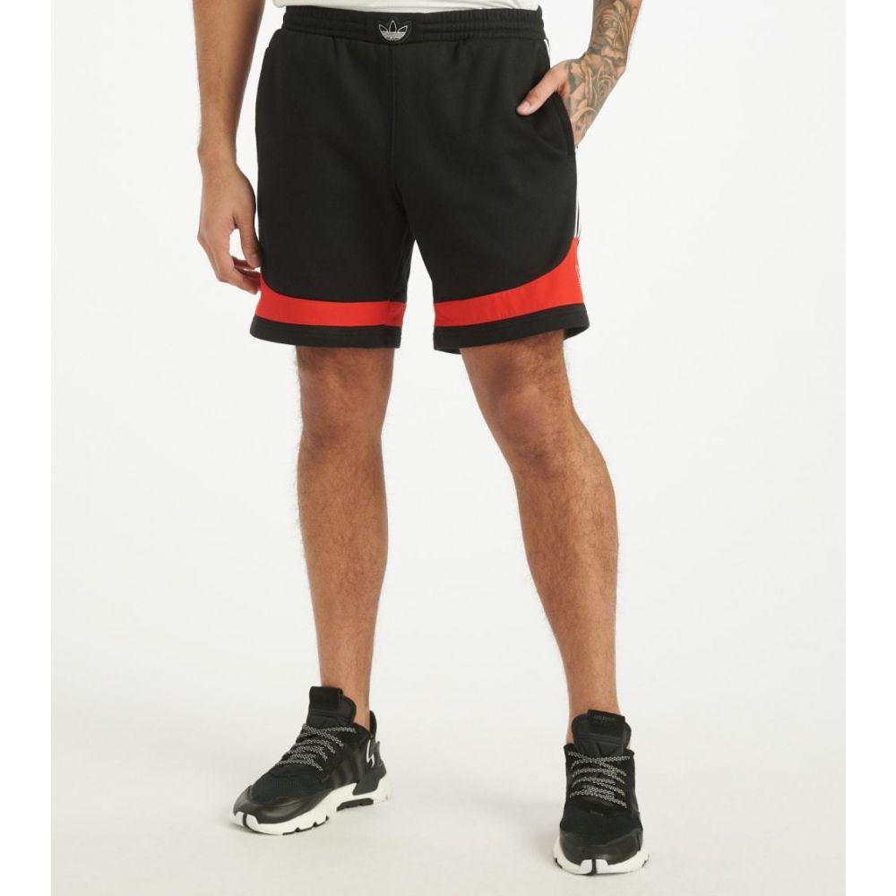 アディダス Adidas メンズ ショートパンツ ボトムス・パンツ【Trefoil Shorts】Black/Core Red
