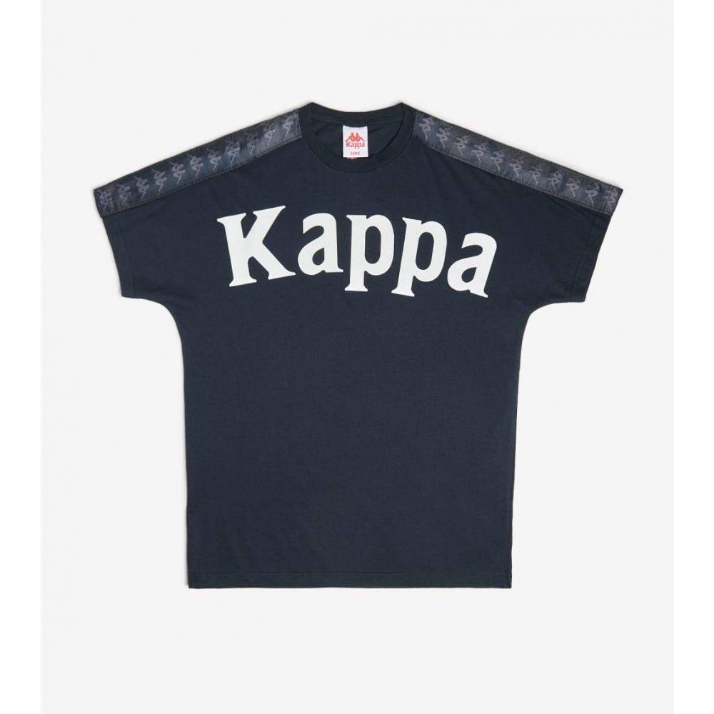 カッパ Kappa メンズ Tシャツ トップス【222 Banda Cultin Tee】Black/White