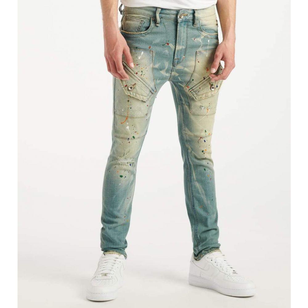 A.K.O.O. メンズ ジーンズ・デニム ボトムス・パンツ【Painted Jean】Silver Top