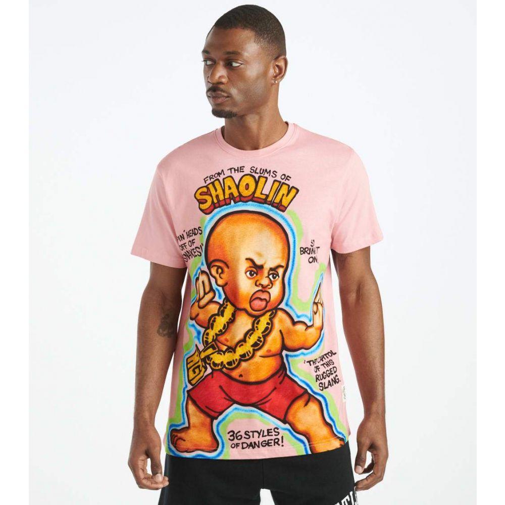 ハッスルギャング Hustle Gang メンズ Tシャツ トップス【Shaolin Knit Tee】Pastel Pink