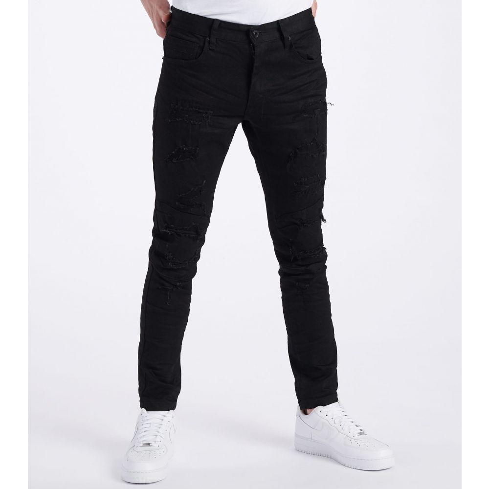 デシベル Decibel メンズ ジーンズ・デニム ボトムス・パンツ【Slim Tapered Stretch Jeans - L34】Jet Black