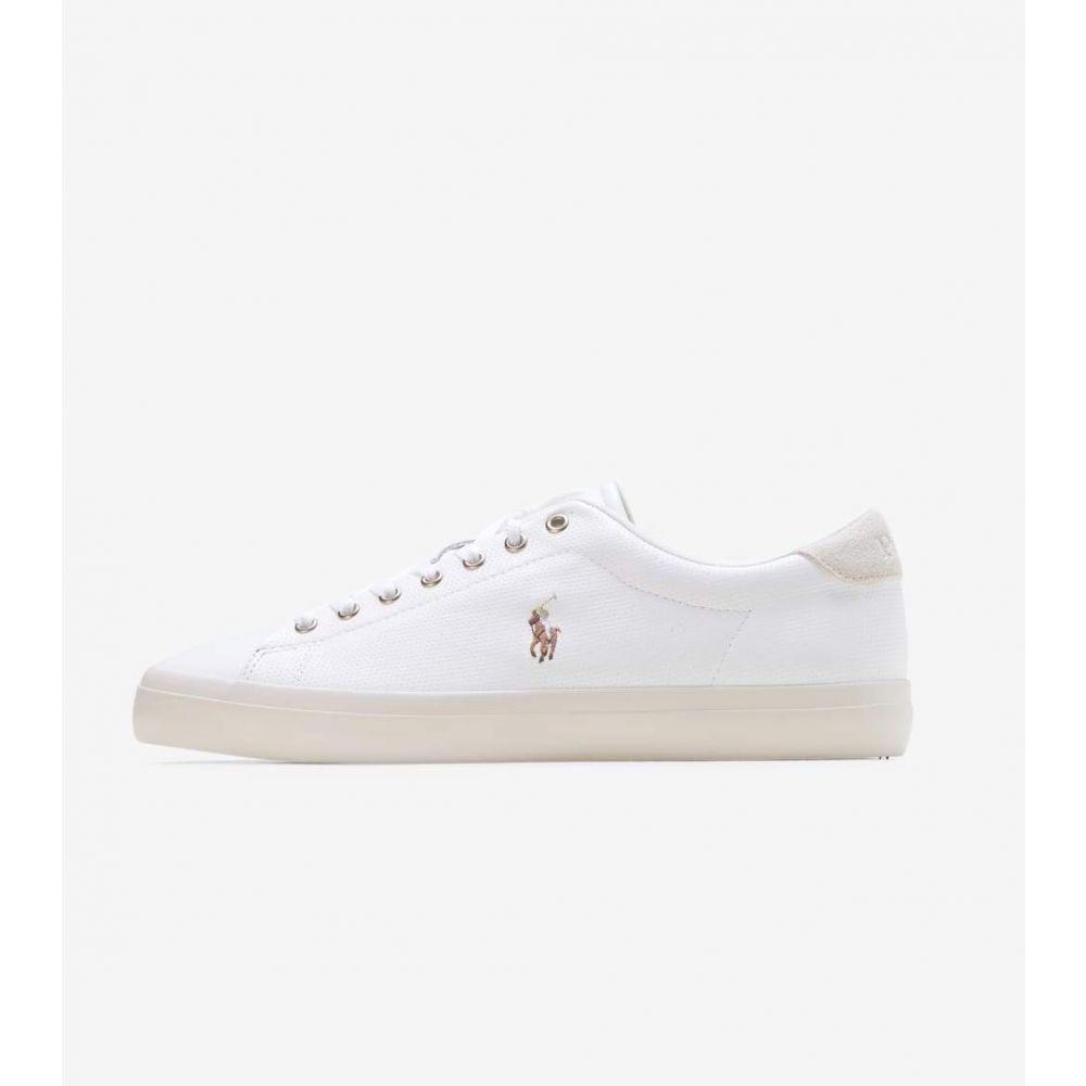 ラルフ ローレン Polo Footwear メンズ スニーカー シューズ・靴【Longwood Leather Sneaker】White