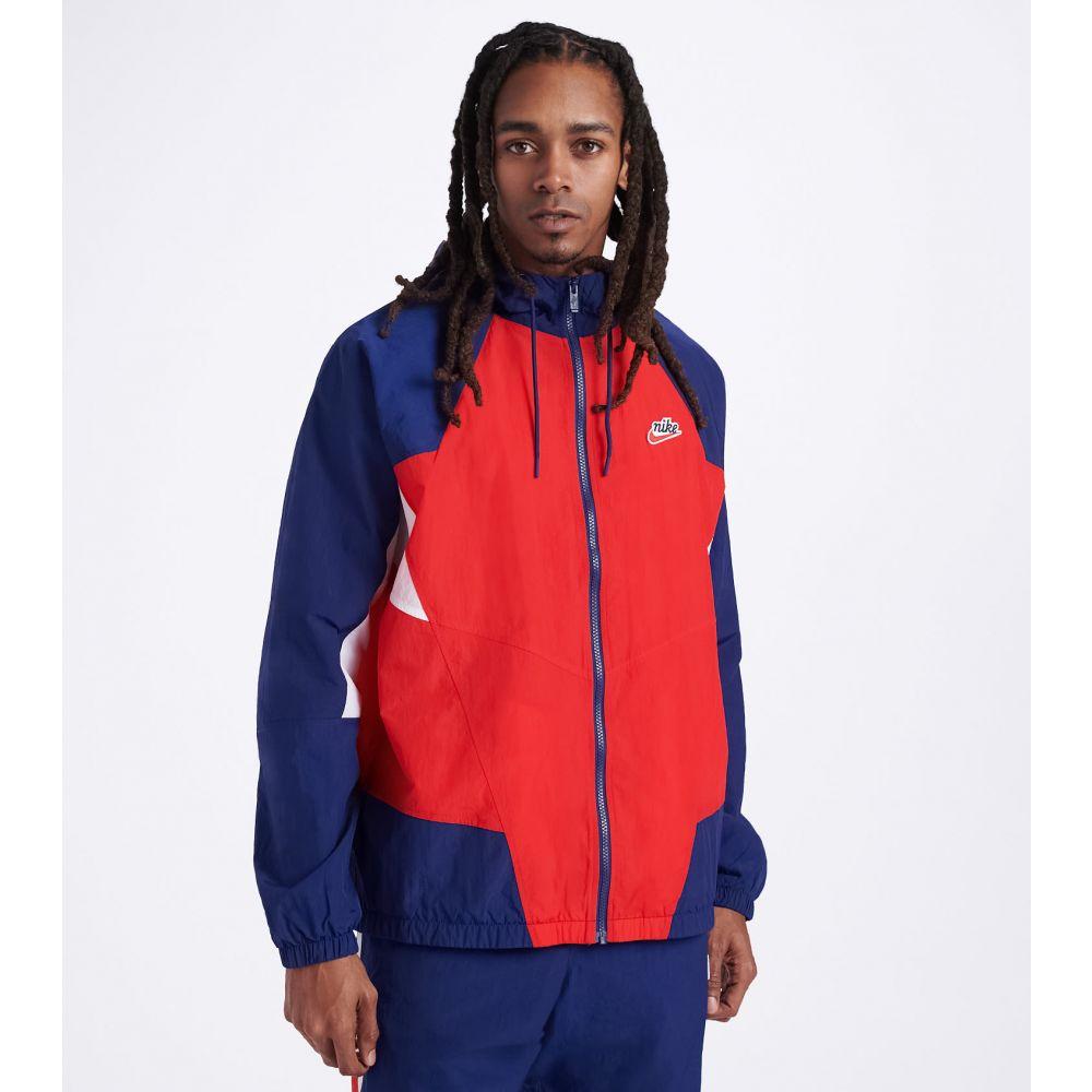 ナイキ Nike メンズ ジャケット アウター【NSW Heritage Windrunner Jacket】UNVRSTY RED/BLUE VOID/UNVRSTY RED