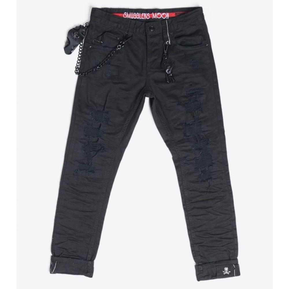 スマグラーズ ムーン Smugglers Moon メンズ ジーンズ・デニム ボトムス・パンツ【Stretch Jeans With Cuffs】Black