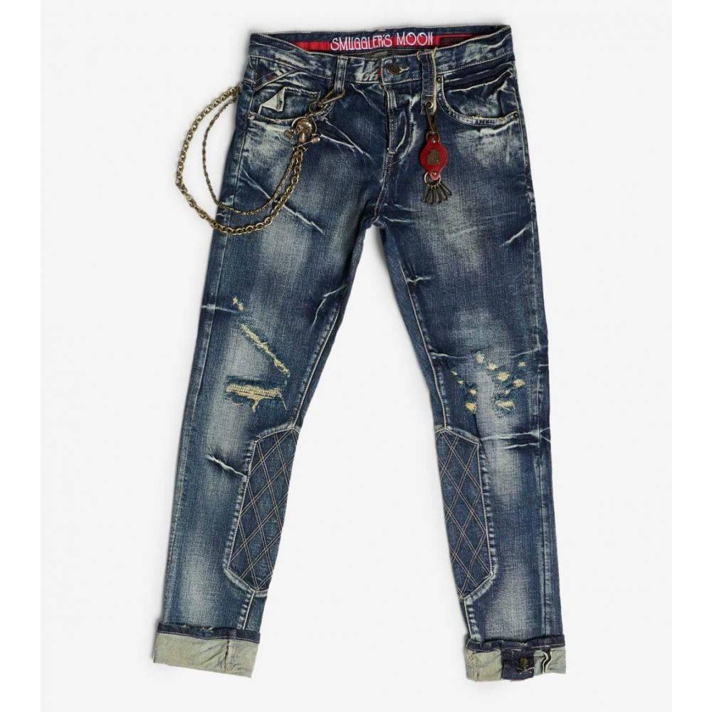 スマグラーズ ムーン Smugglers Moon メンズ ジーンズ・デニム ボトムス・パンツ【Stretch Jeans W Quilt N Cuff】Indigo