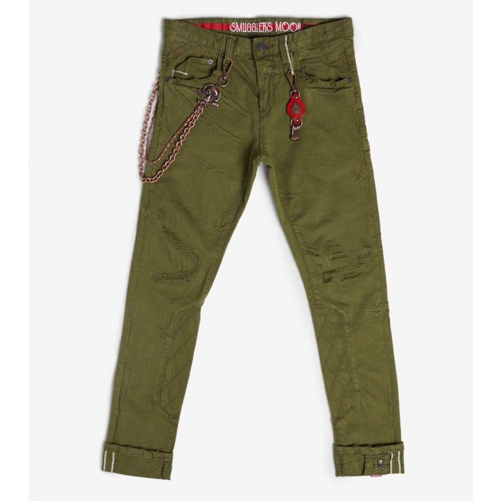 スマグラーズ ムーン Smugglers Moon メンズ ジーンズ・デニム ボトムス・パンツ【Stretch Jeans With Quilt N Cuff】Olive