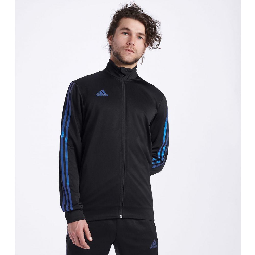 アディダス Adidas メンズ ジャージ アウター【Tiro Track Jacket】BLACK/BLUE PEARL