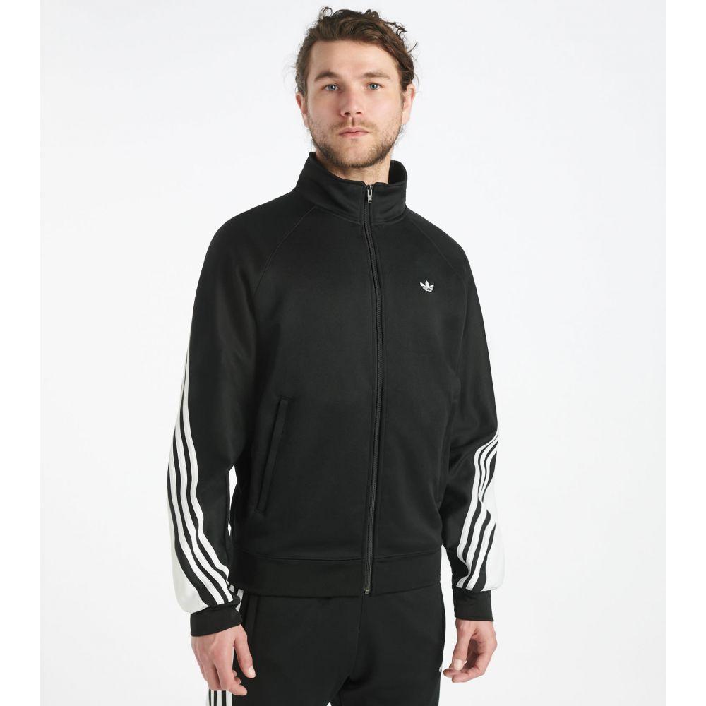 アディダス Adidas メンズ ジャージ アウター【3 Stripe Wrap Track Jacket】BLACK