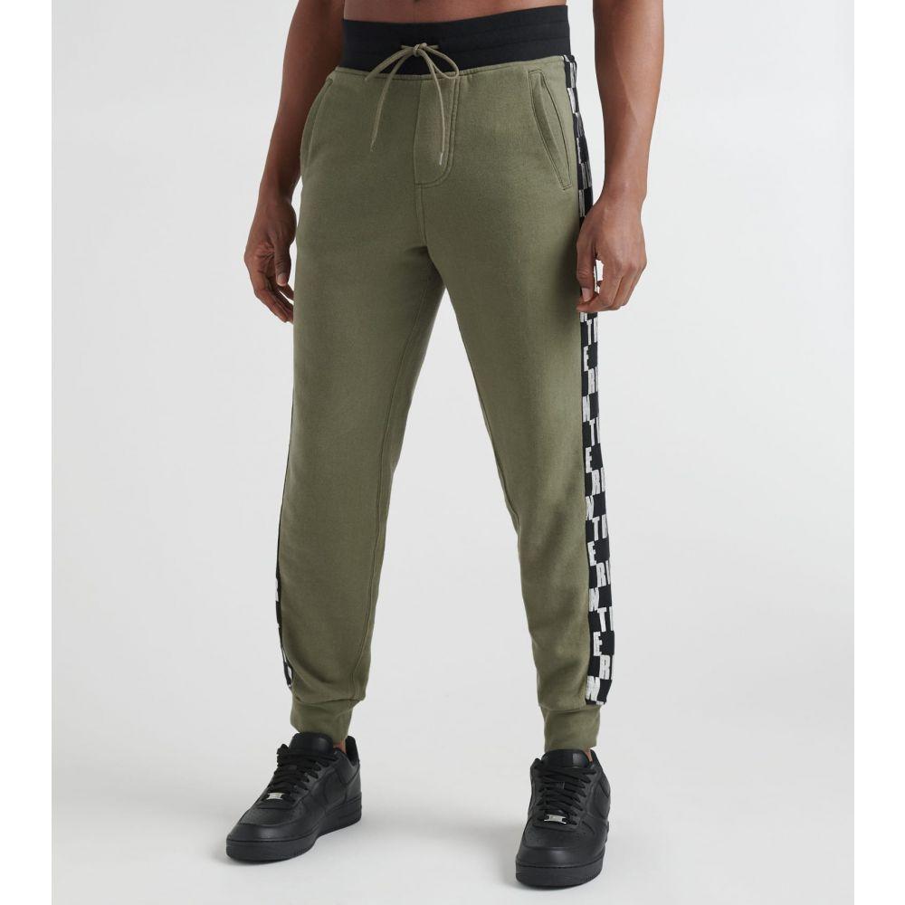トゥルー レリジョン True Religion メンズ スウェット・ジャージ ボトムス・パンツ【Fashion Jogger Monogram Sweatpants】Militant Green/Black