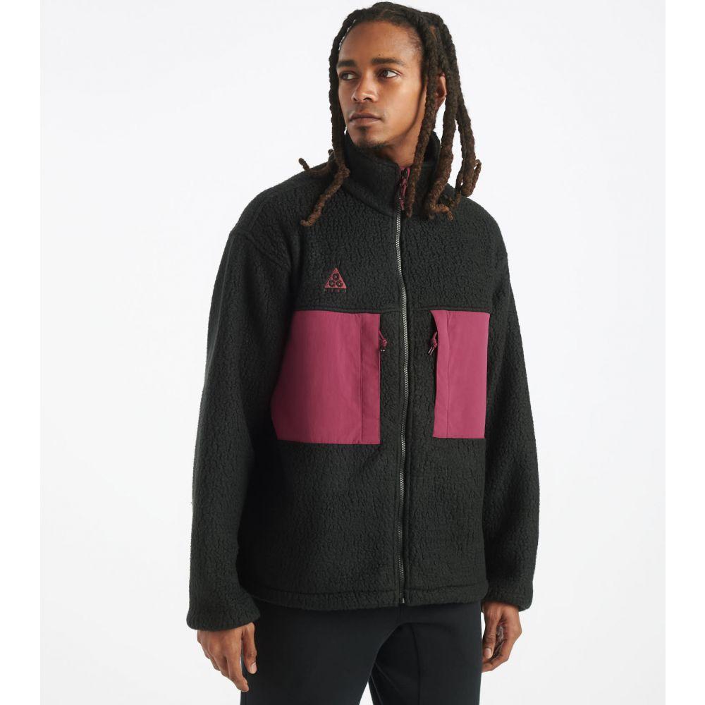 ナイキ Nike メンズ フリース トップス【ACG Microfleece Jacket】Black/Villain Red