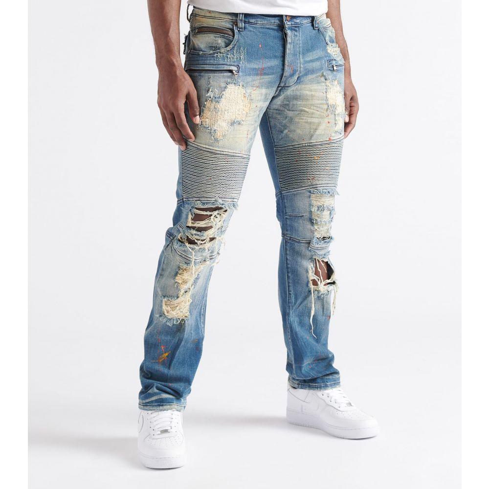 ロックスター Rock Star メンズ ジーンズ・デニム ボトムス・パンツ【Craig Moto Jeans】Craig Med Blue